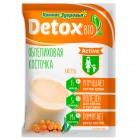Кисель овсяно-льняной заварной на фруктозе облепиховая косточка Detox (коробка: 10 пакетиков)